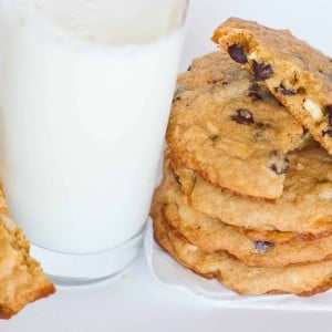Chocolate Chip Cookies with Macadamia, Toffee Bits and White Chocolate Chunks