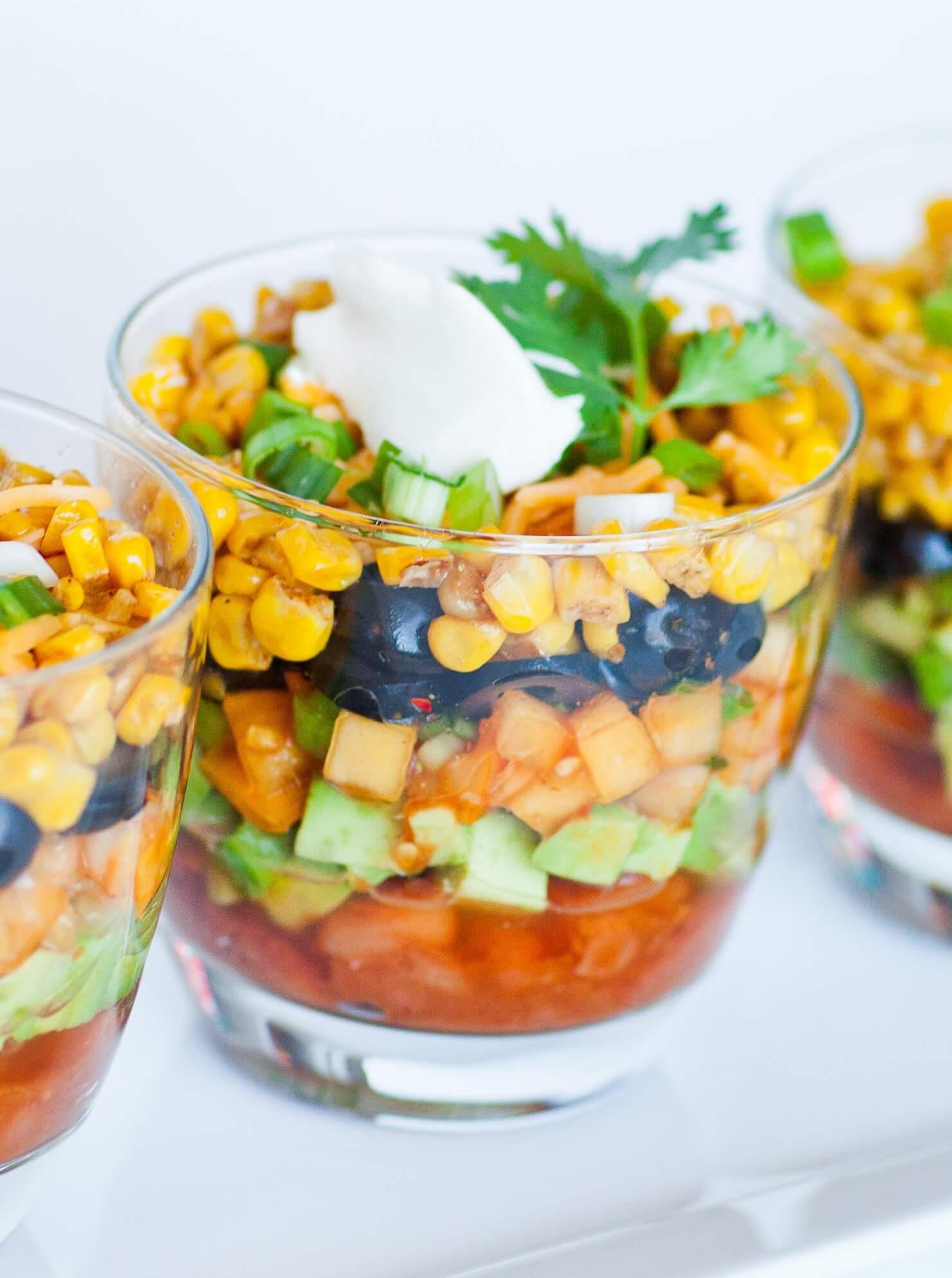 individual layered taco dip