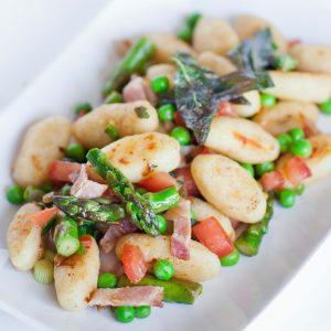 gnocchi with asparagus