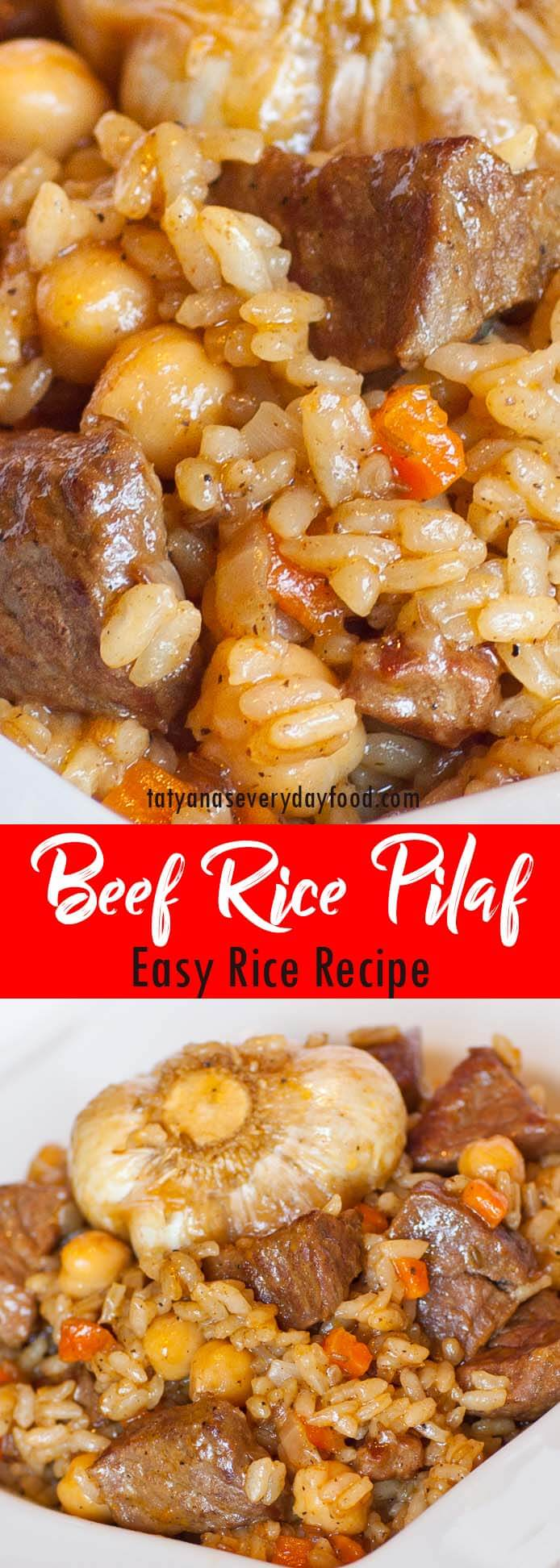 Beef Rice Pilaf Plov video recipe
