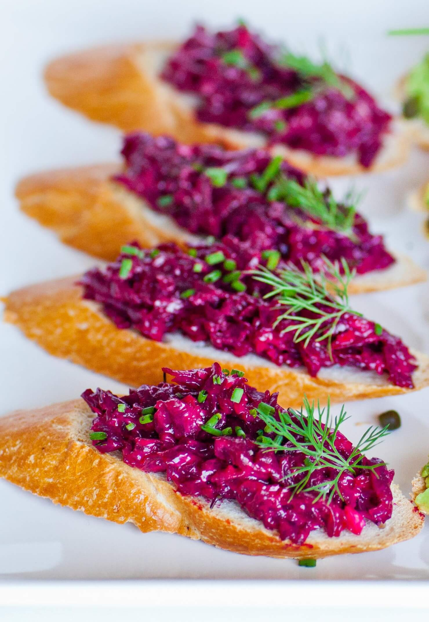 Beet Spread on Toast