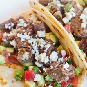 blue cheese steak tacos