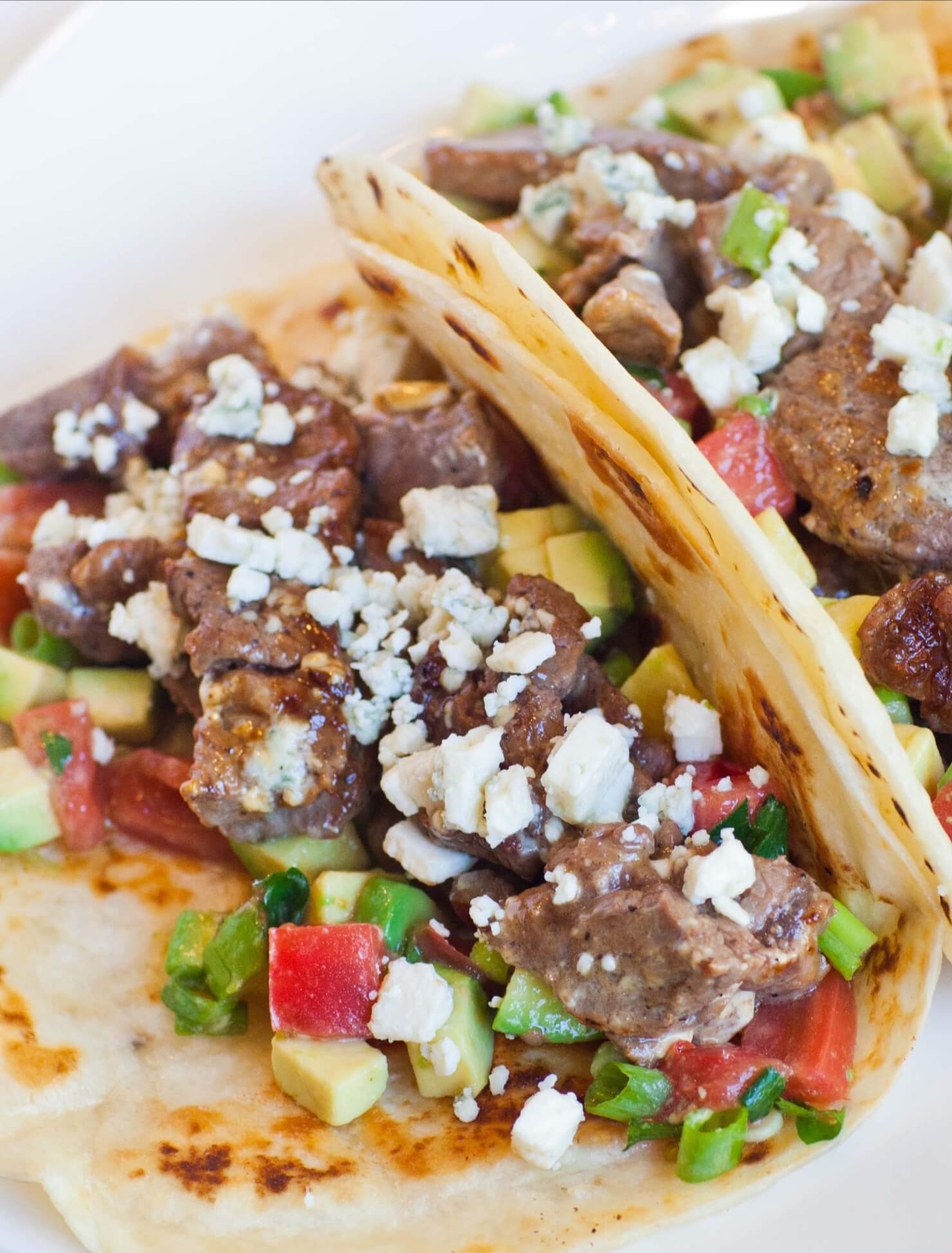 Steak and Blue Cheese Tacos