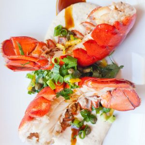 butter lobster tails with gremolata