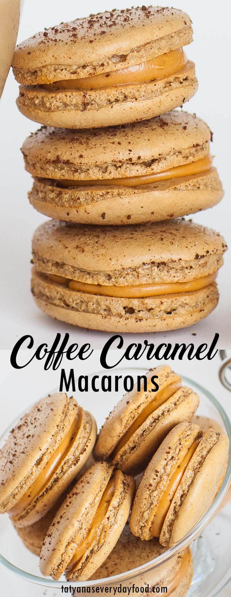 Caramel Coffee Macarons video recipe