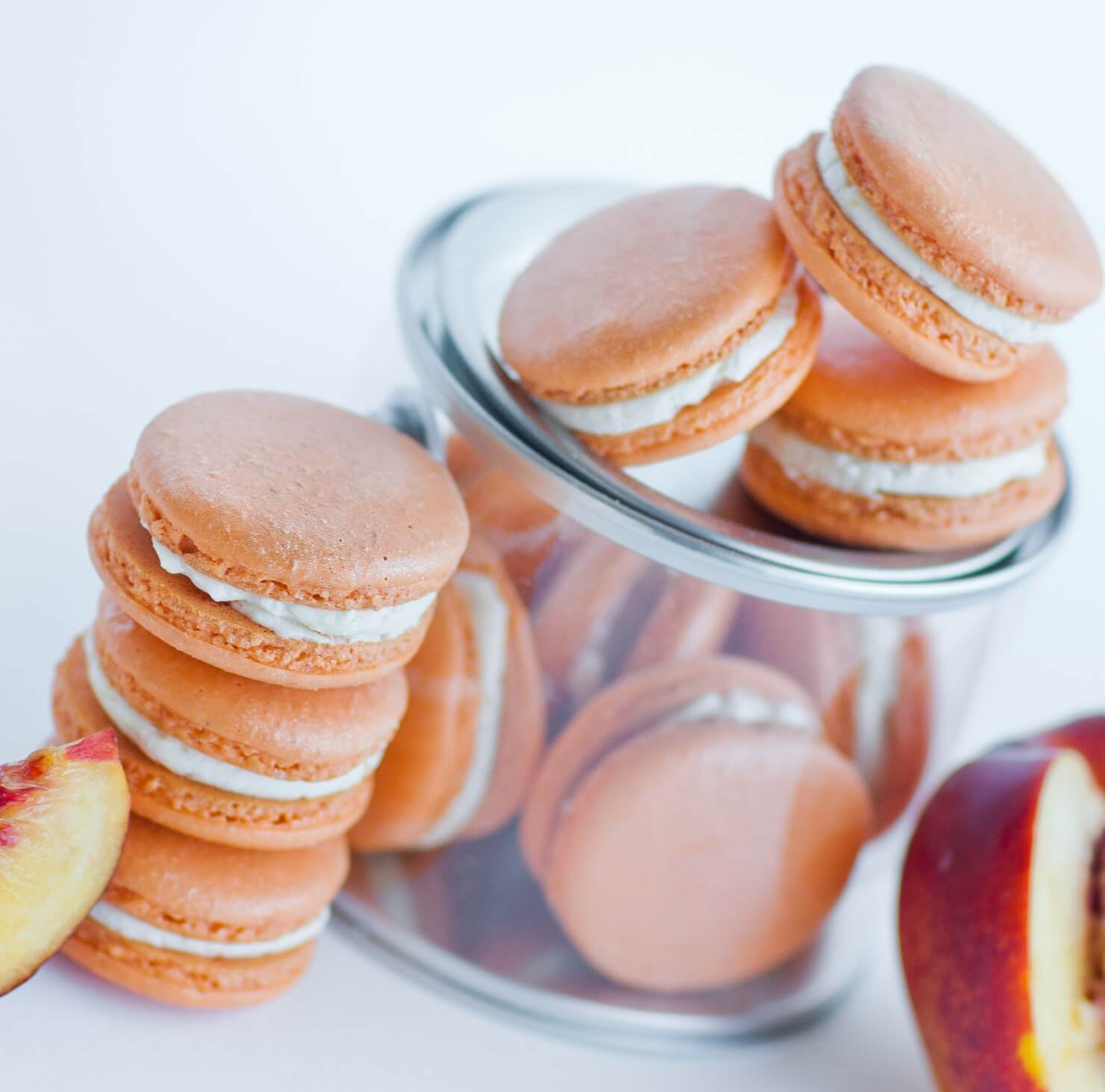 pink peach macarons rose - photo #45
