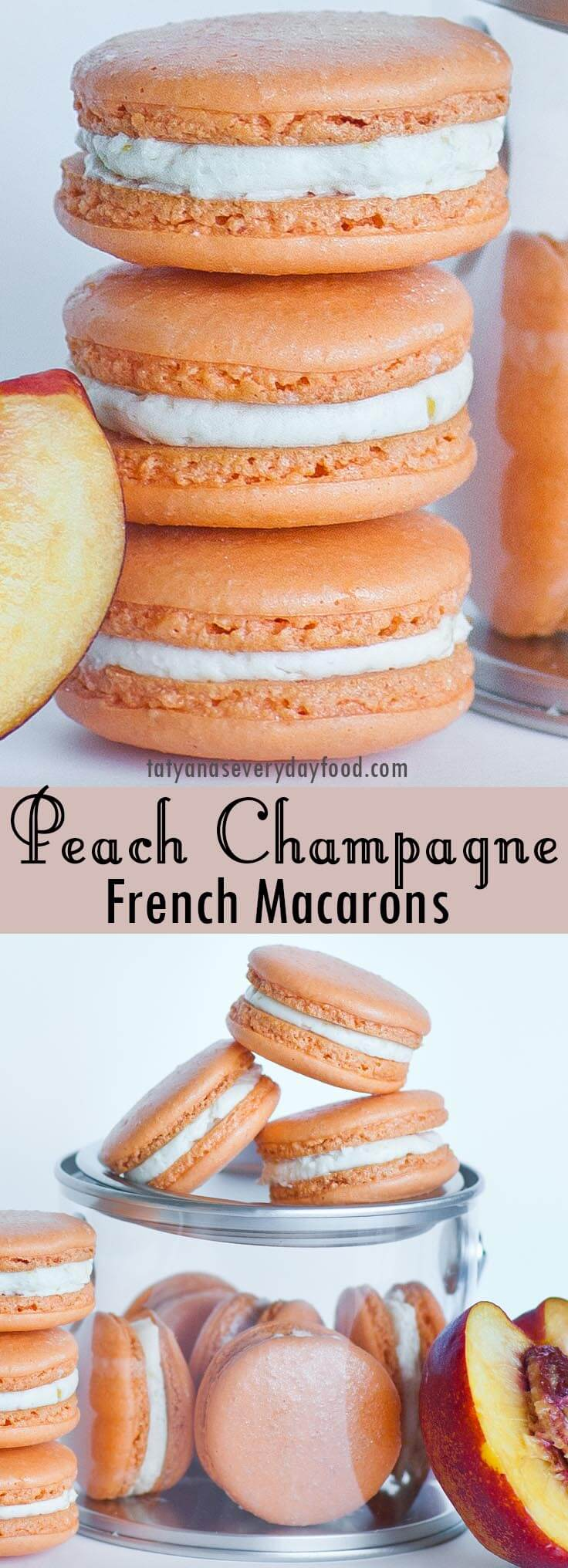 Champagne Peach Macarons video recipe