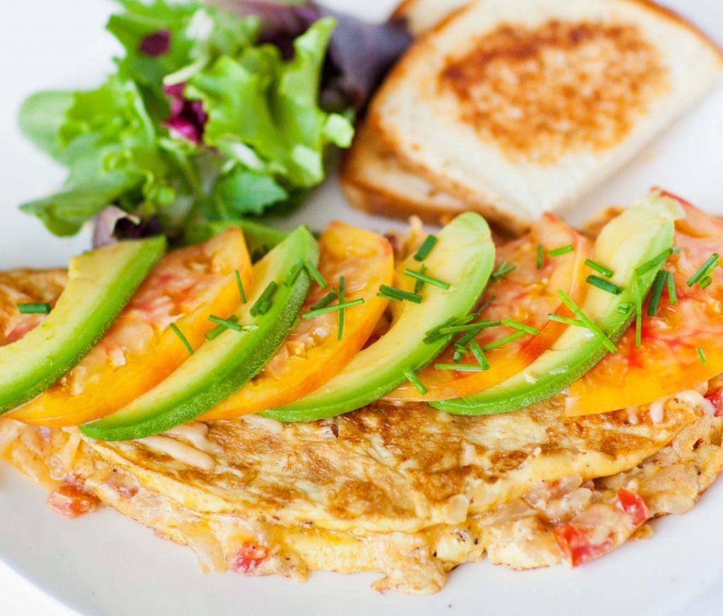 Weekend Breakfast Omelette with Gruyere and Avocado ...