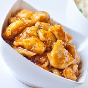 glazed chinese orange chicken