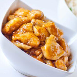 glazed chinese orange chicken