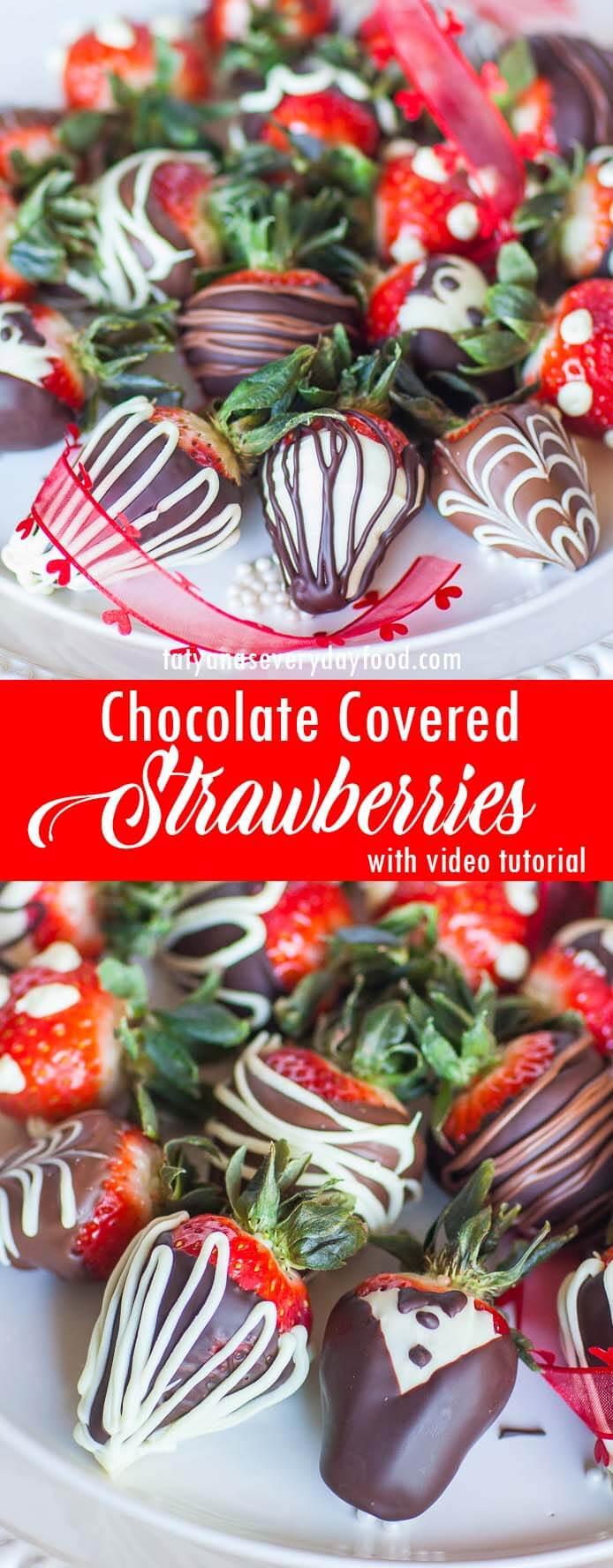 Chocolate Covered Strawberries video tutorial
