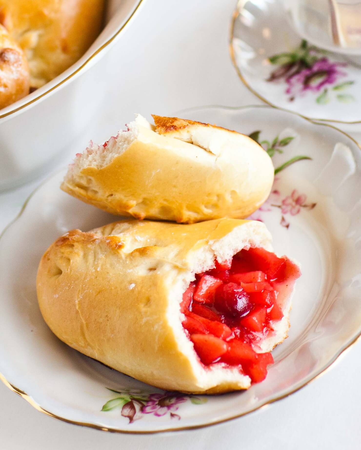 Apple Piroshki with Cranberry