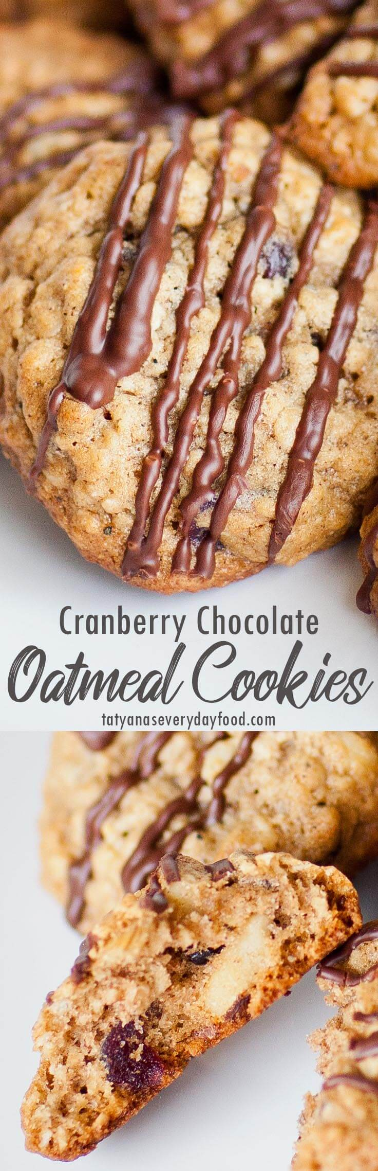 Cranberry Chocolate Oatmeal Cookies recipe