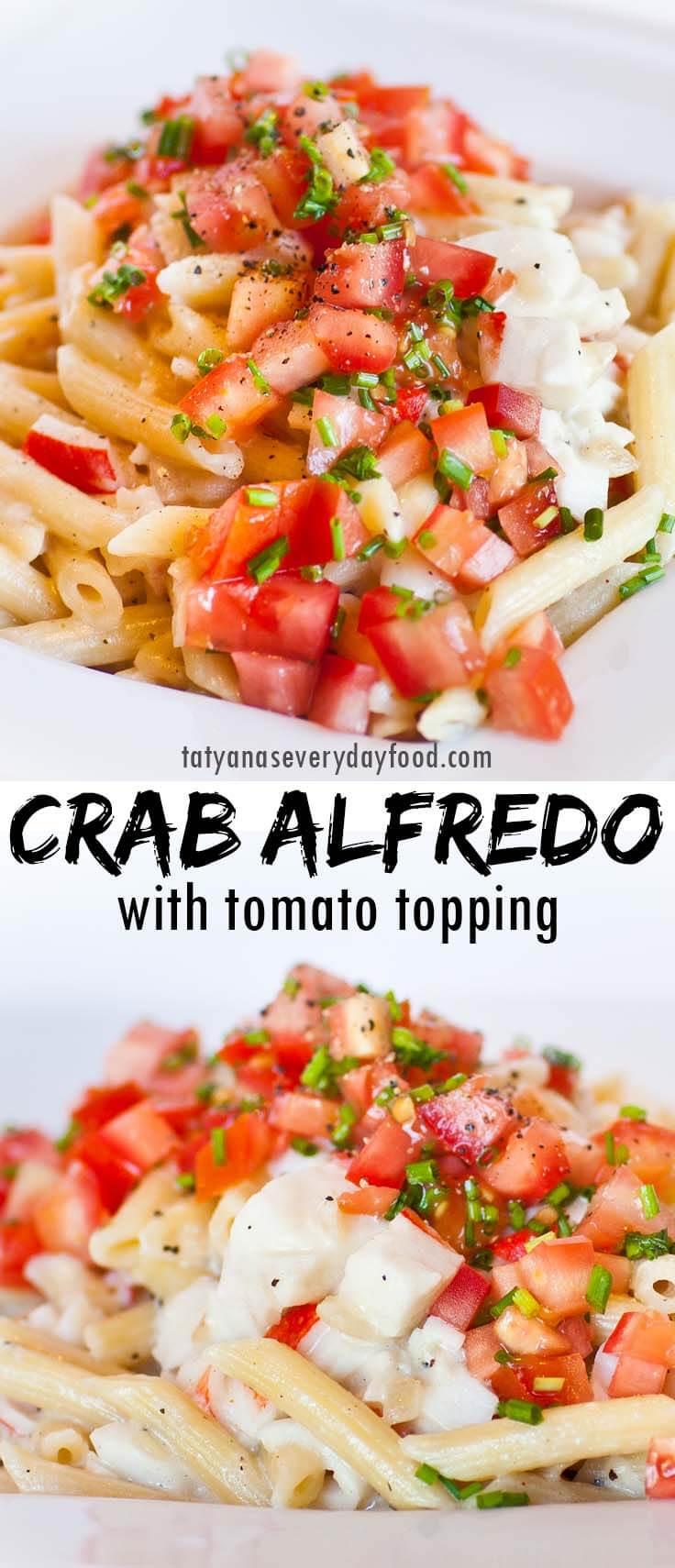 Creamy Crab Alfredo Pasta recipe