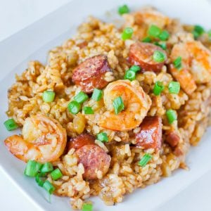 shrimp jambalaya with sausage