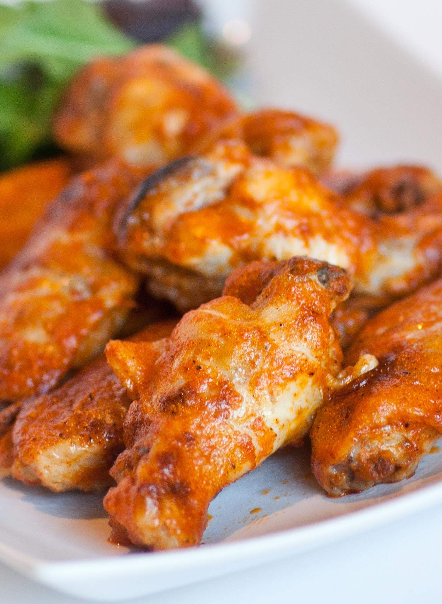 chicken party wings with buffalo sauce