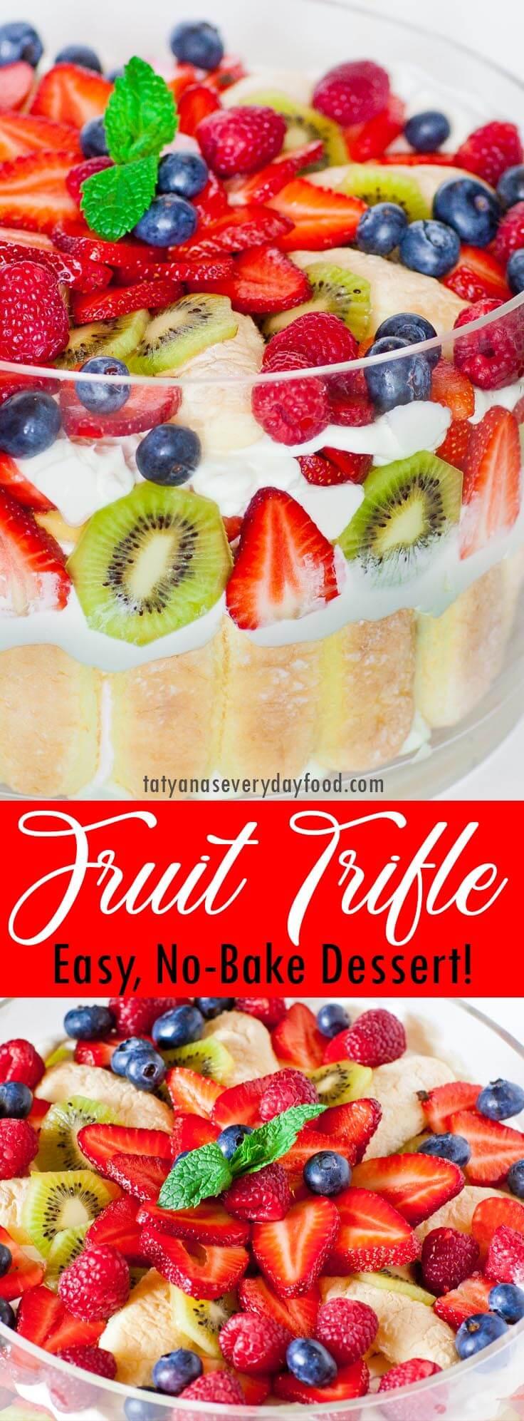 Easy Fruit Trifle video recipe