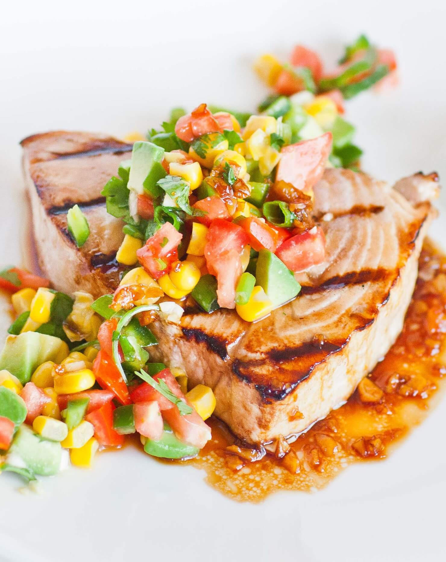 grilled swordfish with salsa