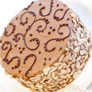 decorated kiev cake with chocolate