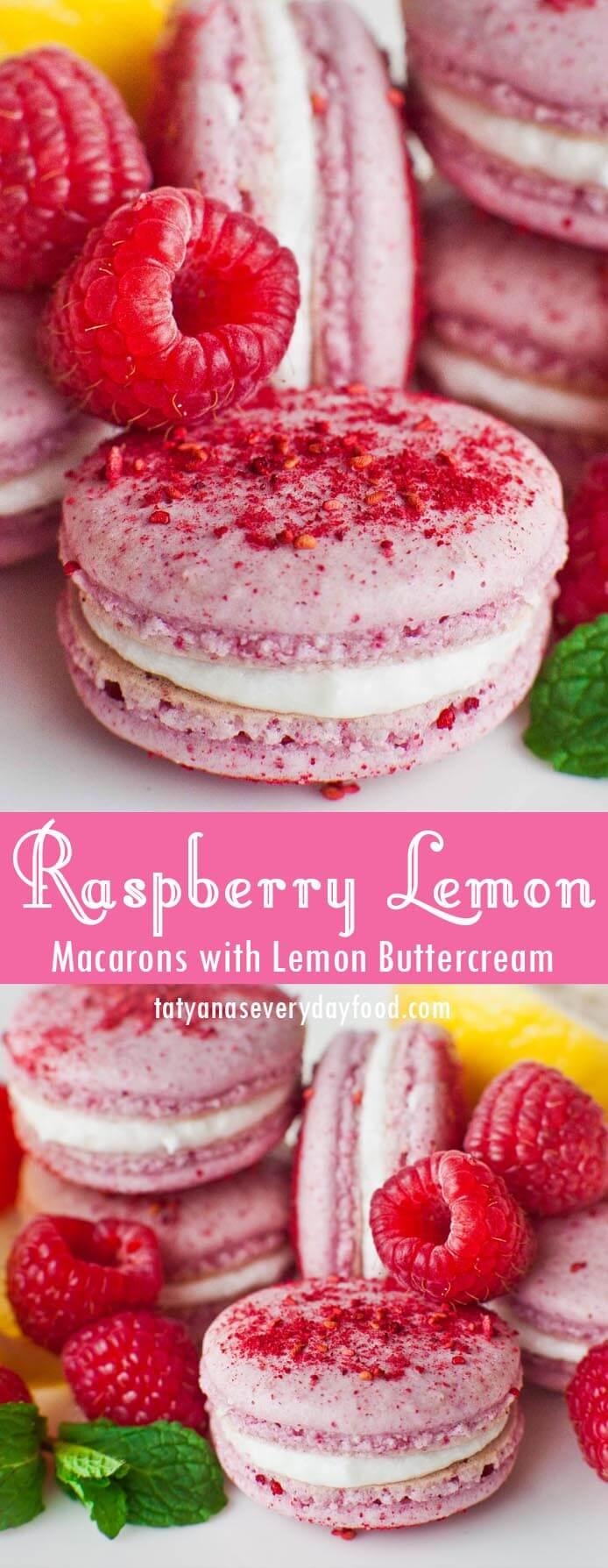 Lemon Raspberry Macarons video recipe