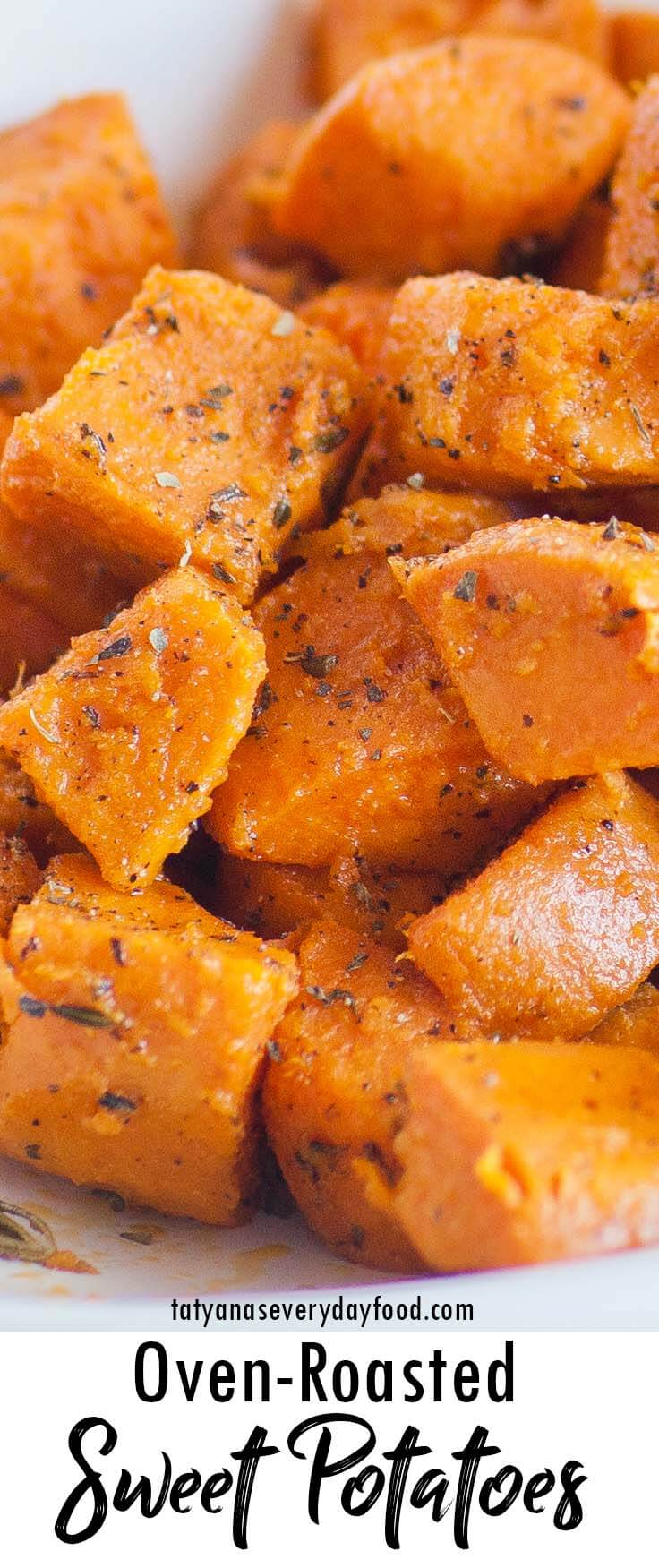 Oven Roasted Sweet Potatoes video recipe