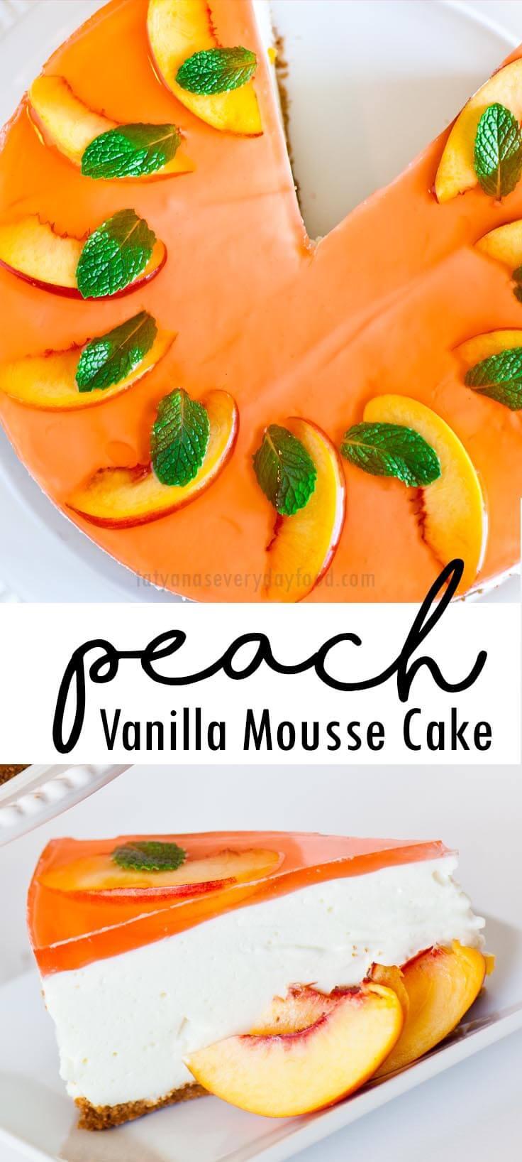 Peach Mousse Cake video recipe
