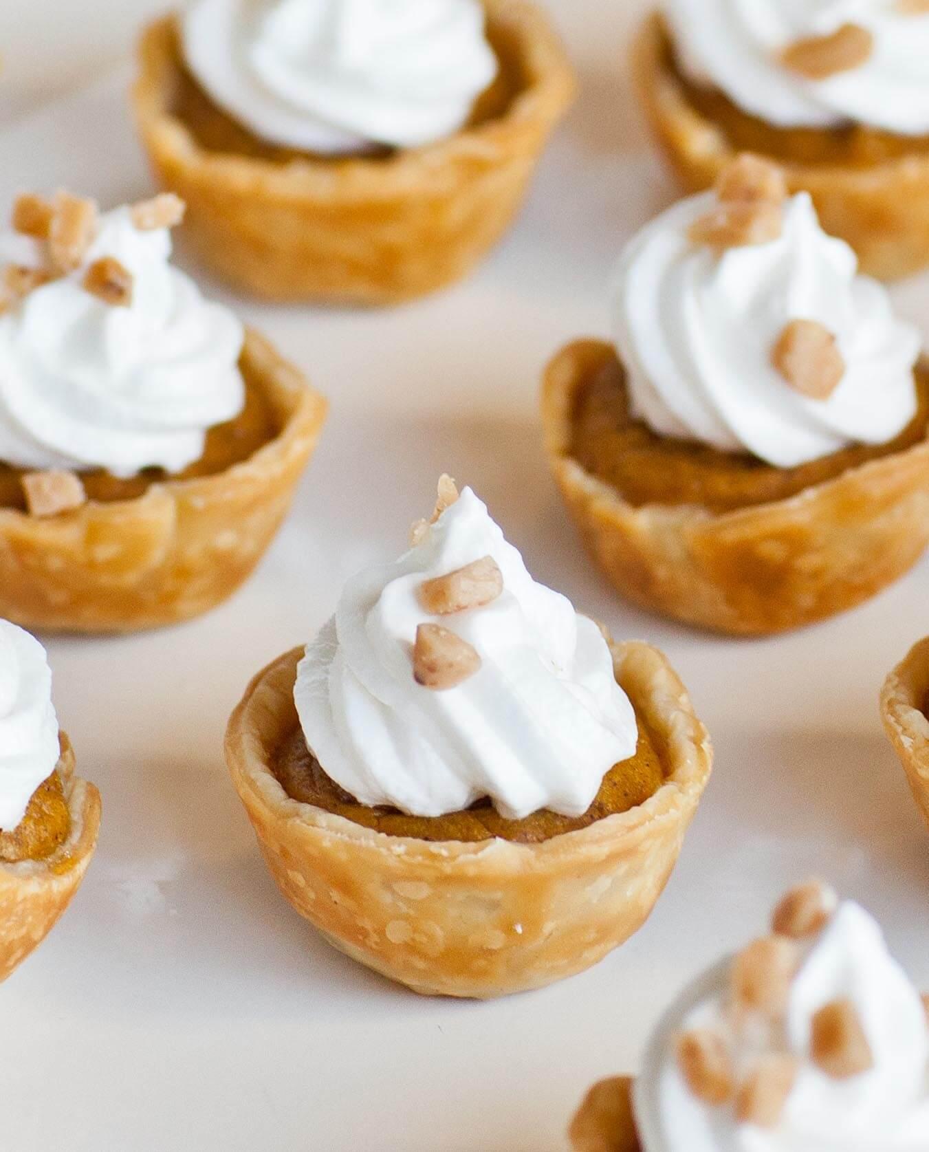 Pumpkin Pie Tartlets with Meringue Frosting - Tatyanas ...
