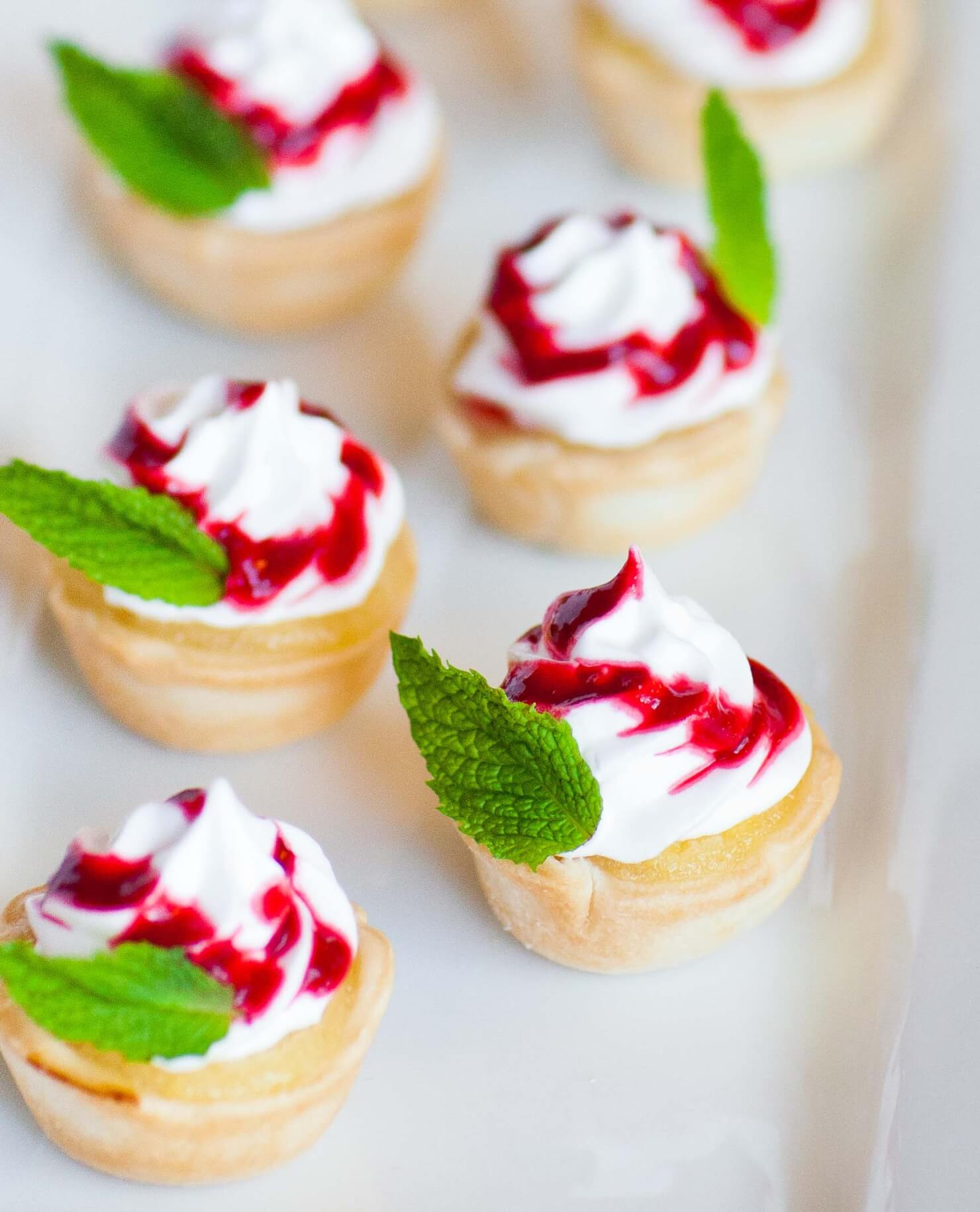 Lemon Curd and Raspberry Meringue Mini Tarts