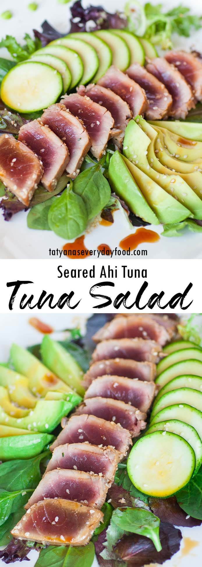 Seared Ahi Tuna Salad recipe
