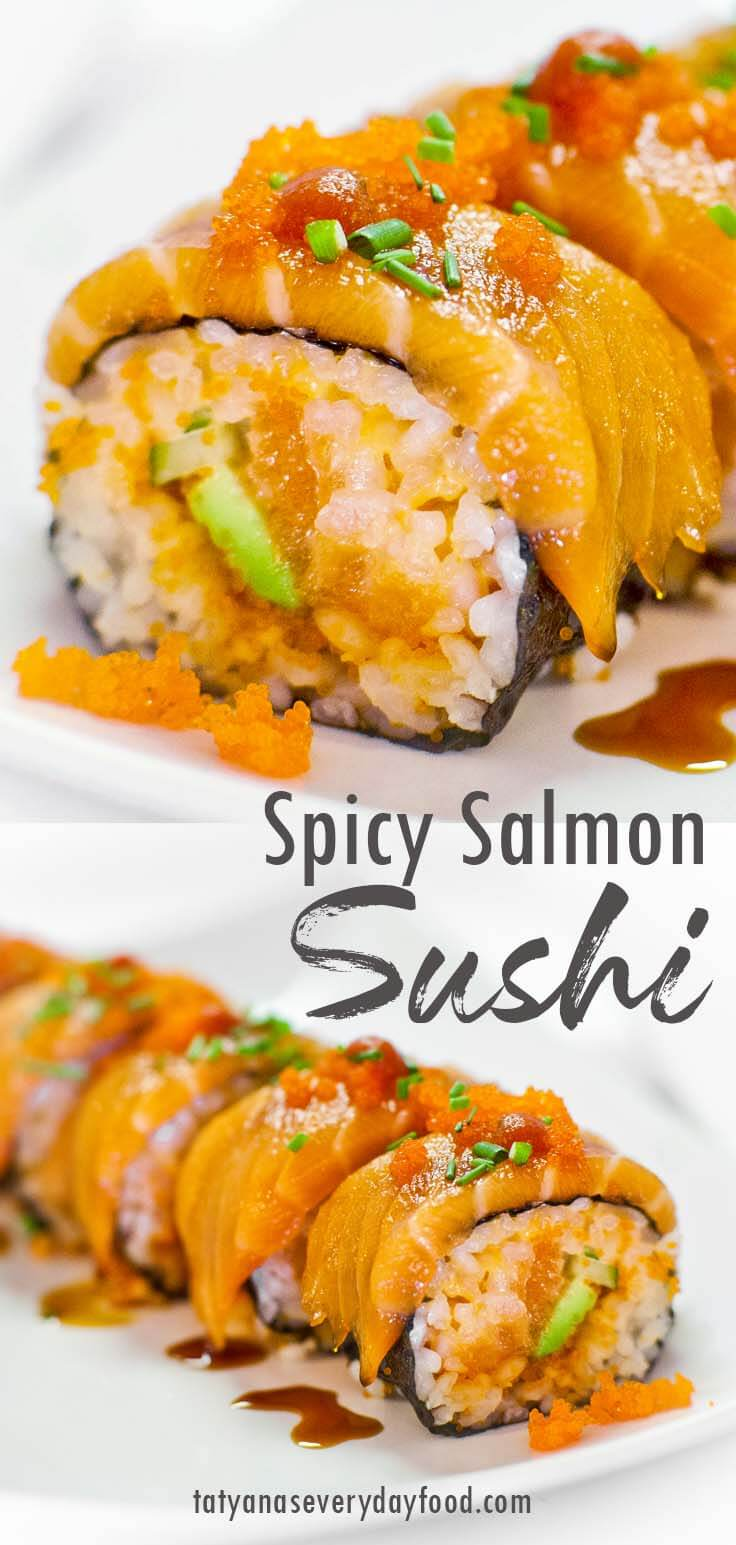 Spicy Salmon Sushi Roll video recipe