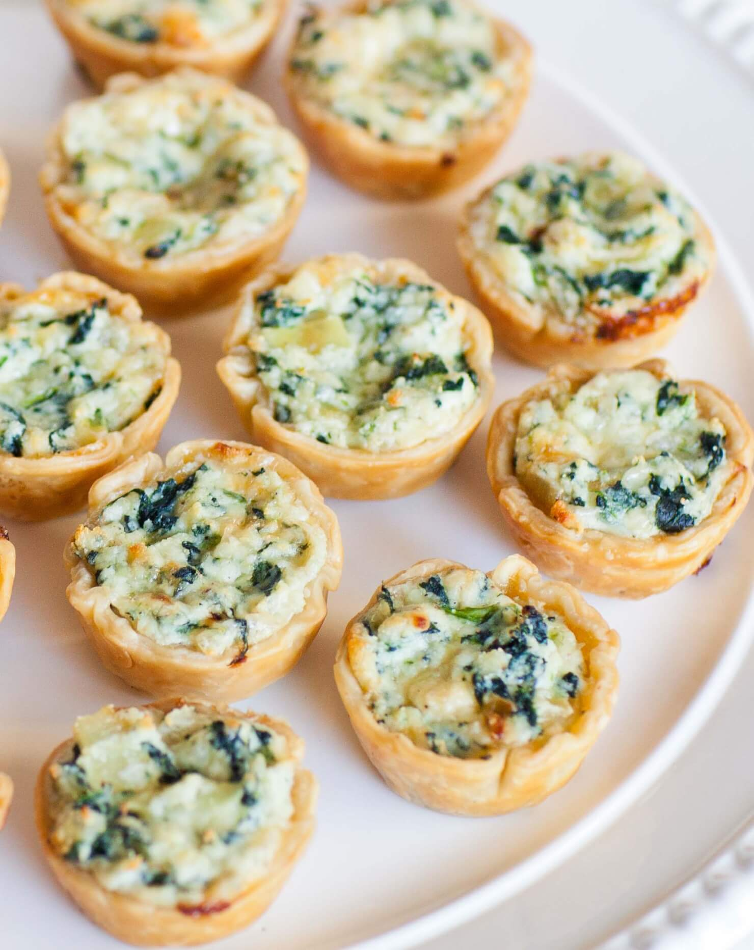Petite quiche and ricotta canapes tatyanas everyday food for Hot canape ideas