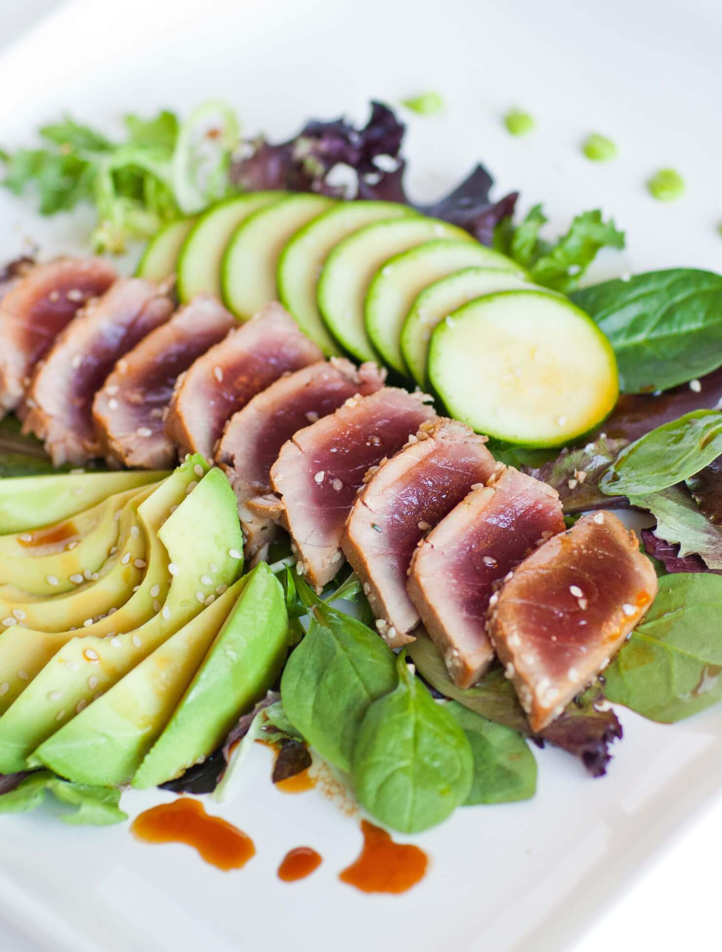 Seared Tuna Salad with Wasabi - Tatyanas Everyday Food