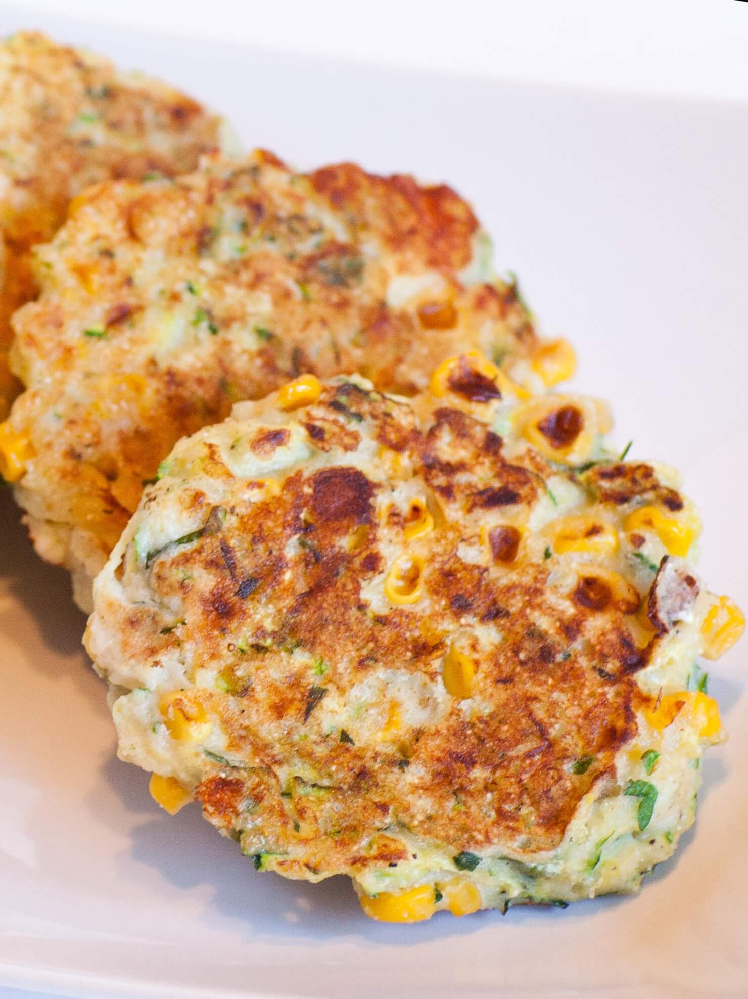zucchini corn fritters with cheese