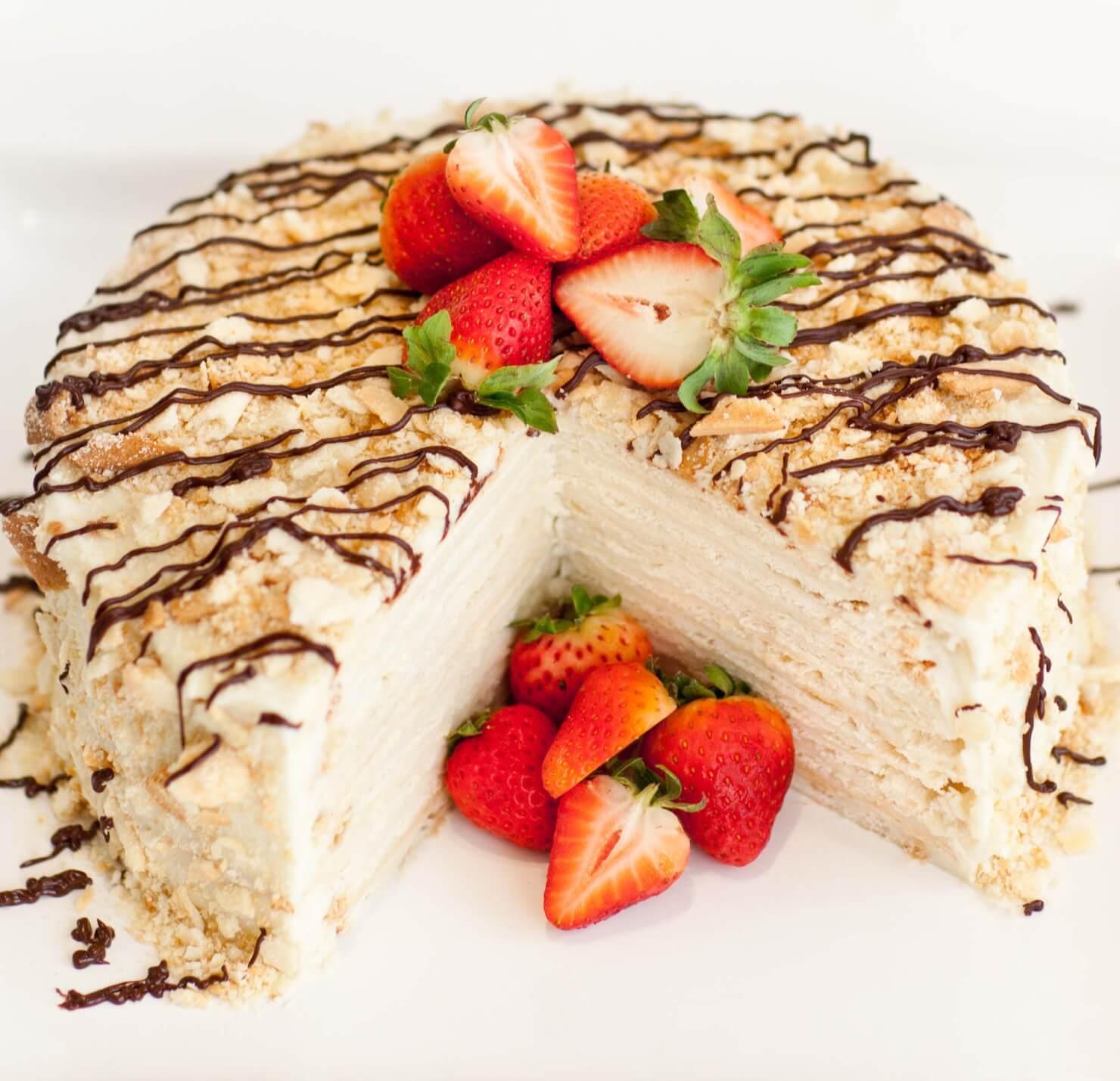 Торт наполеон фото украшений