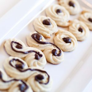 butter cookies with chocolate