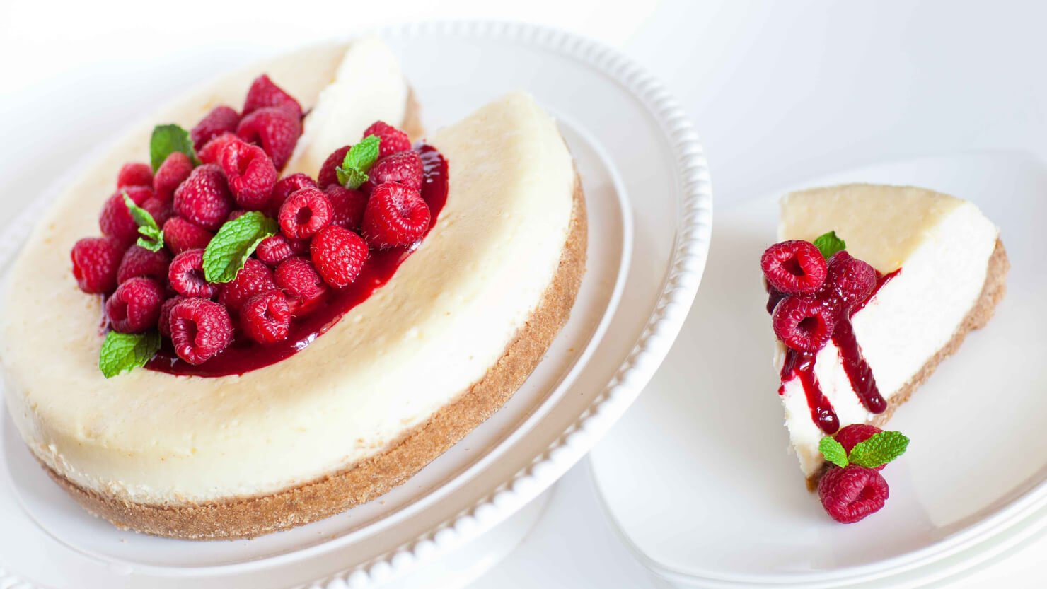 Classic Cheesecake with Raspberry Coulee - Tatyanas Everyday Food