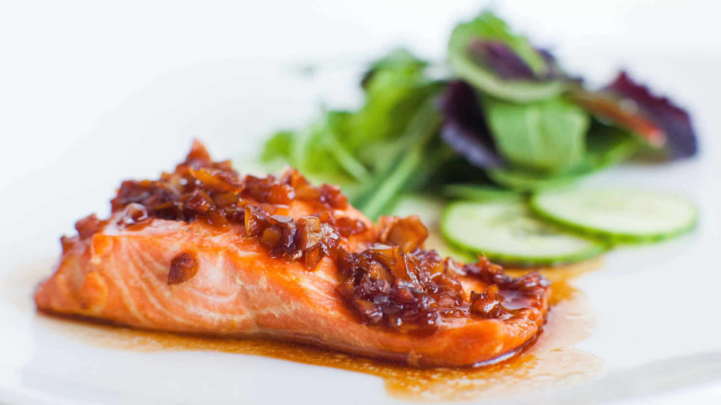 Salmon with Ginger-Garlic Glaze with video tutorial