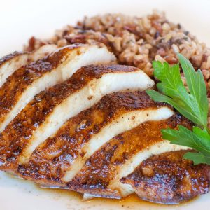 chicken breast with wild rice