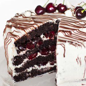insdide chocolate cherry cake