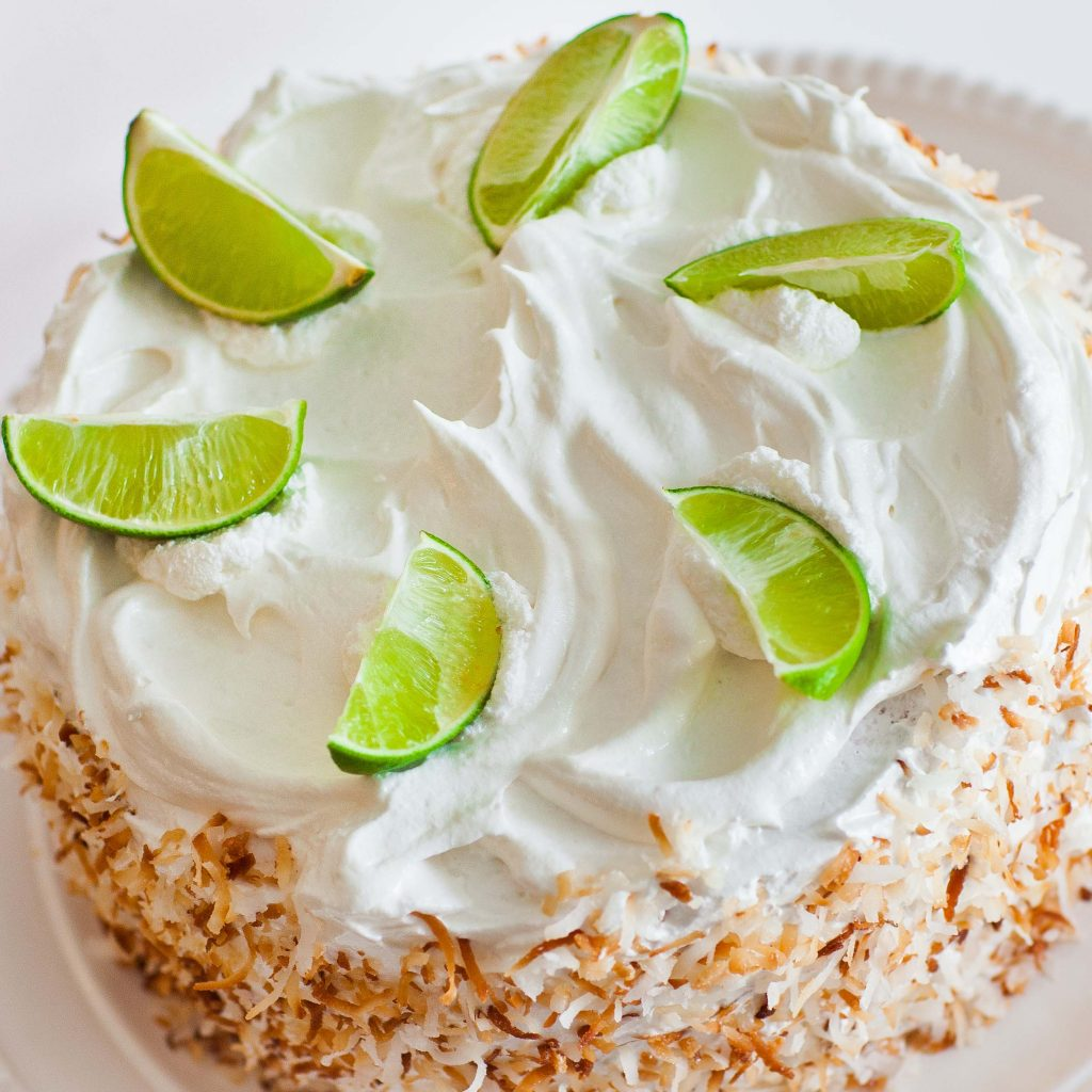 Coconut Lime Cake with Meringue Frosting - Tatyanas Everyday Food