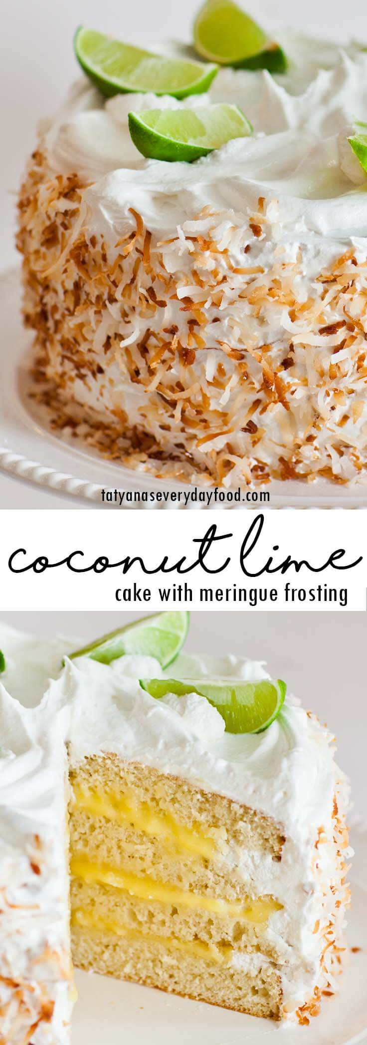 Coconut Lime Cake video recipe