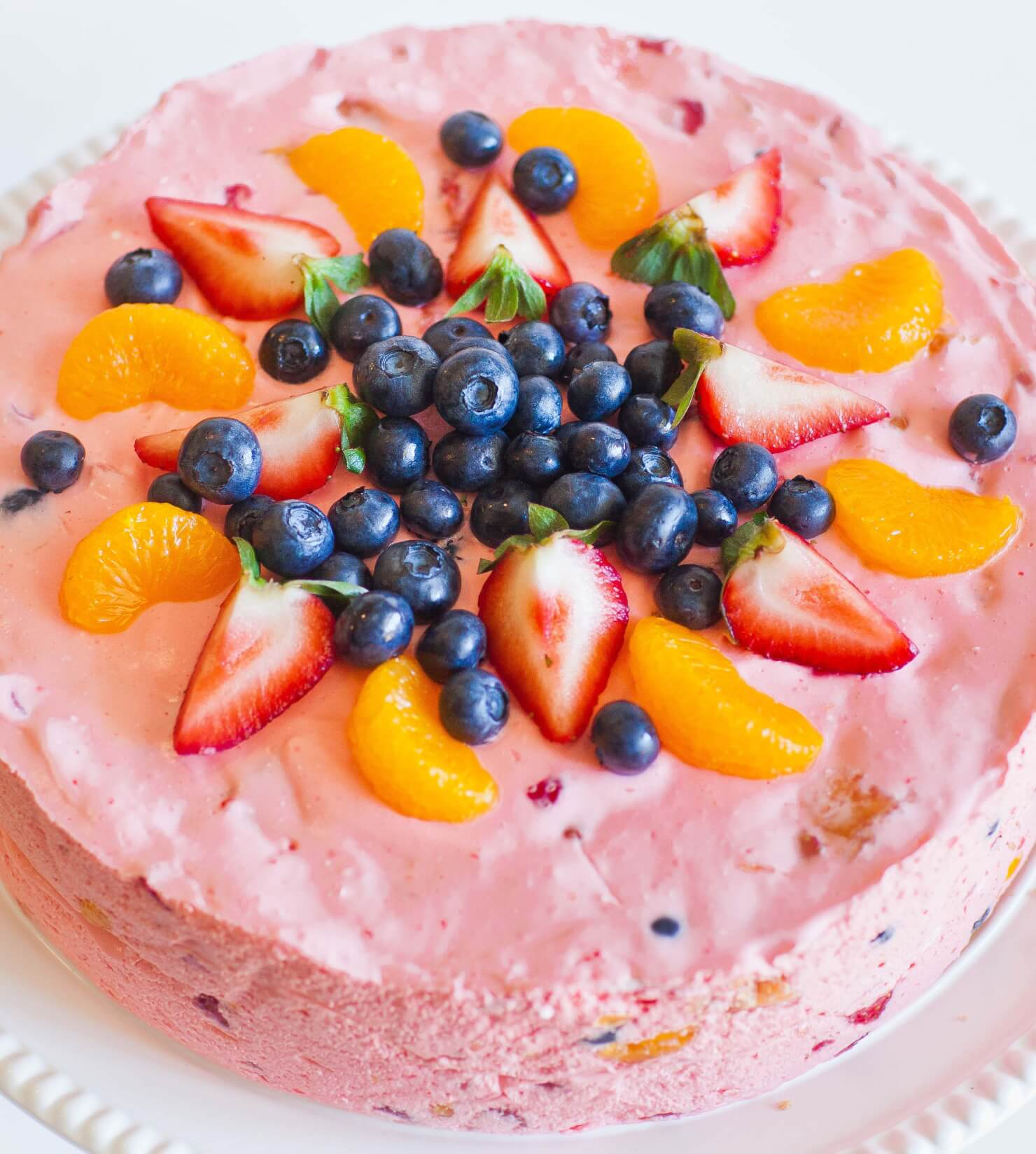fruit mousse cake with jello