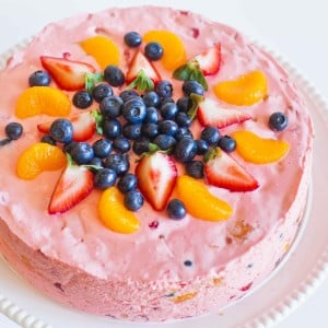 Jello Fruit Mousse Cake with video tutorial