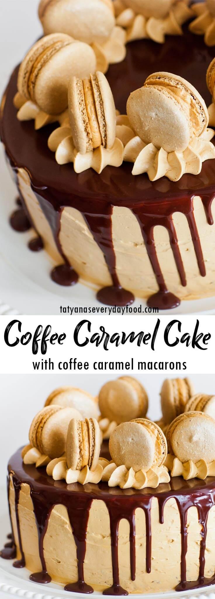 Coffee Caramel Cake video recipe