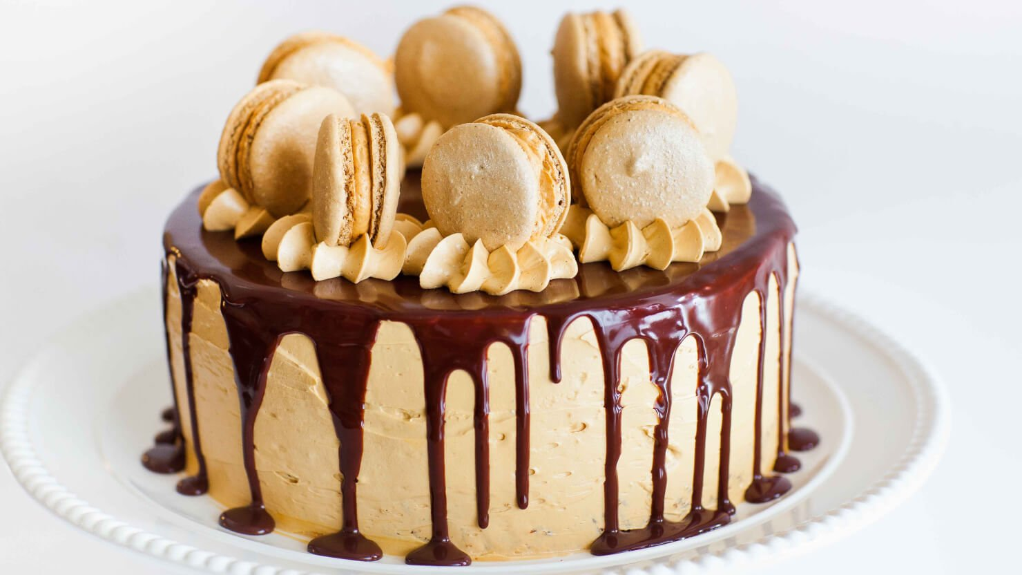 Coffee Caramel Cake with Chocolate Ganache - Tatyanas Everyday Food