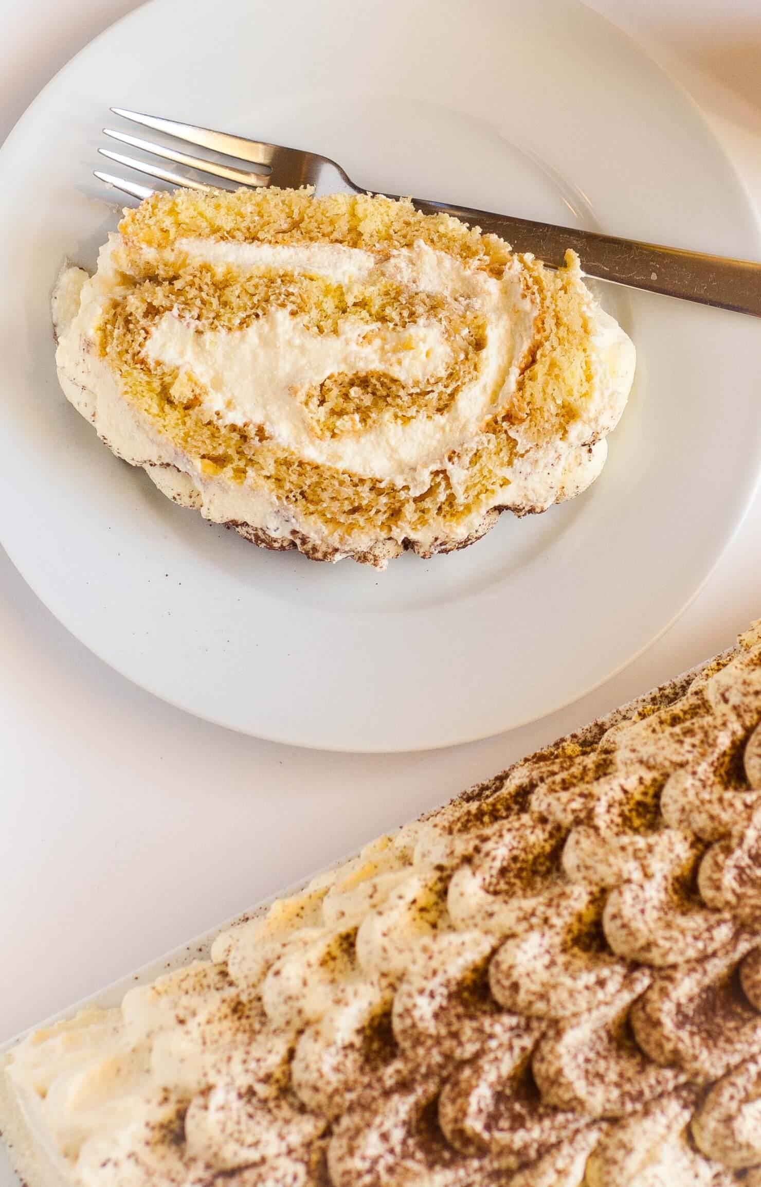 Classic Tiramisu Cake Roll