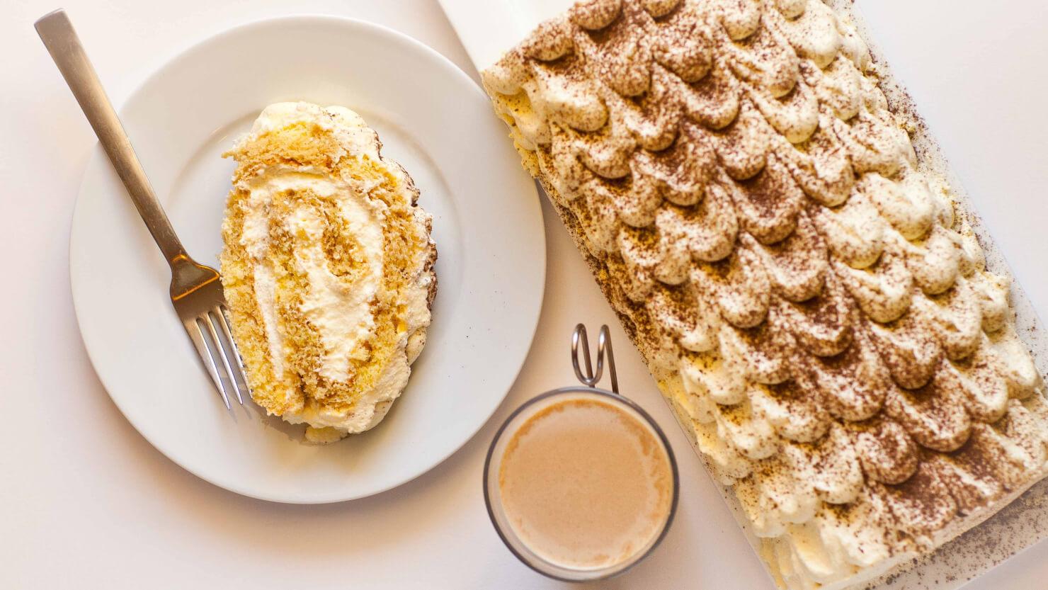 Classic Tiramisu Cake Roll video tutorial - Tatyana's Everyday Food