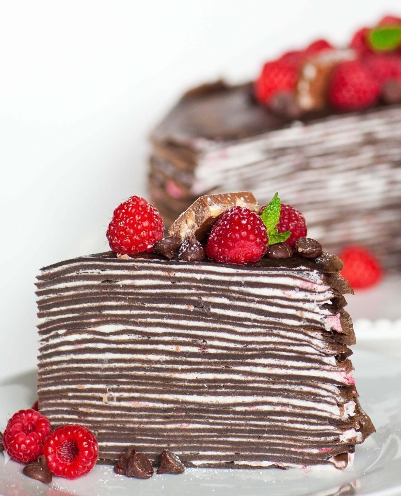 Chocolate Raspberry Crepe Cake Recipe Video Tatyanas