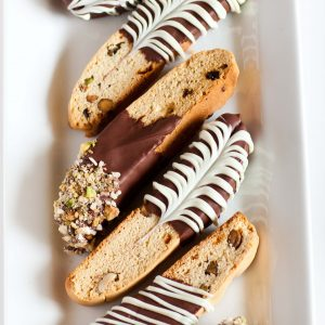 italian biscotti cookies with chocolate