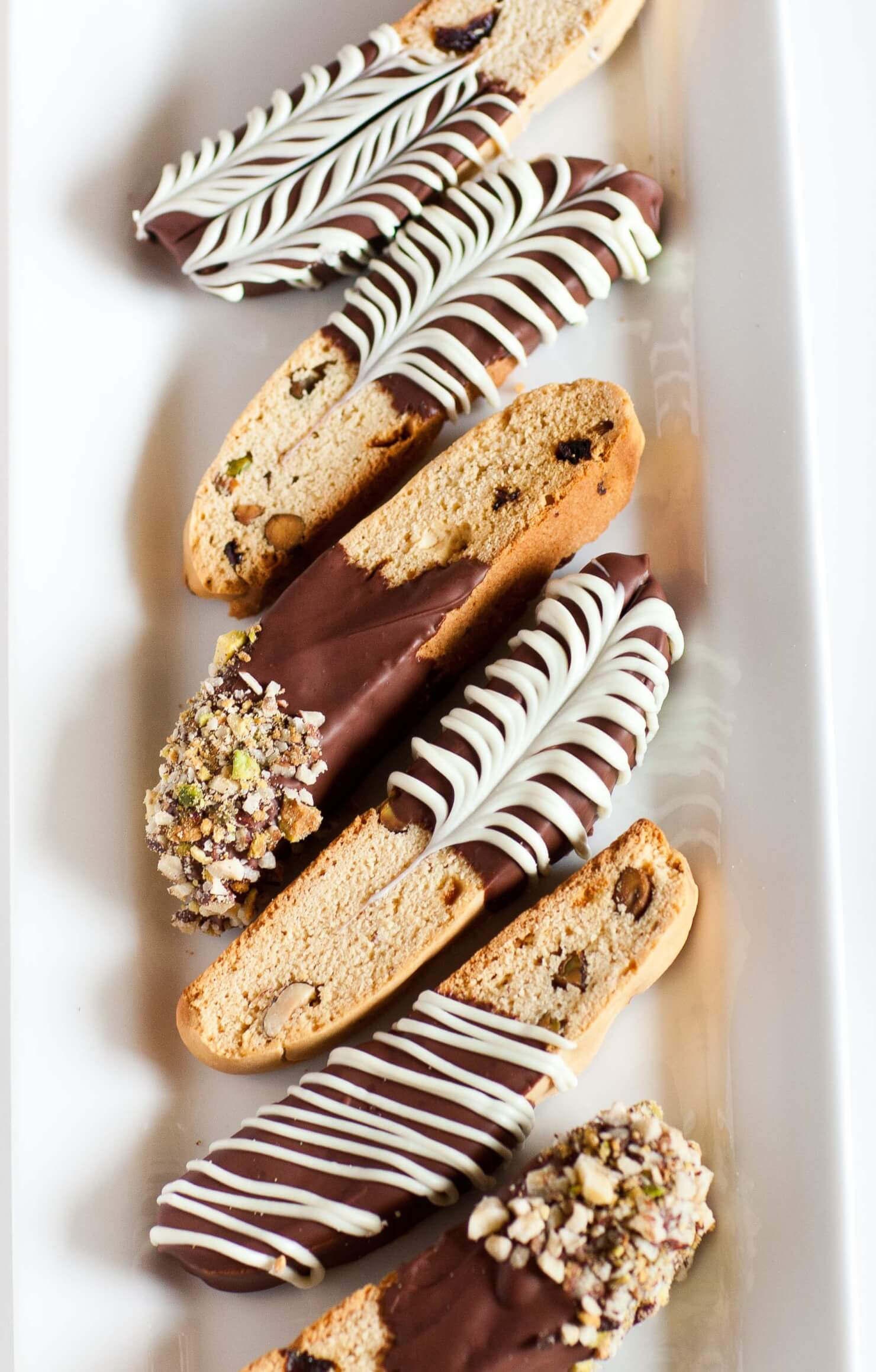 Italian Biscotti with Pistachios and Cranberry